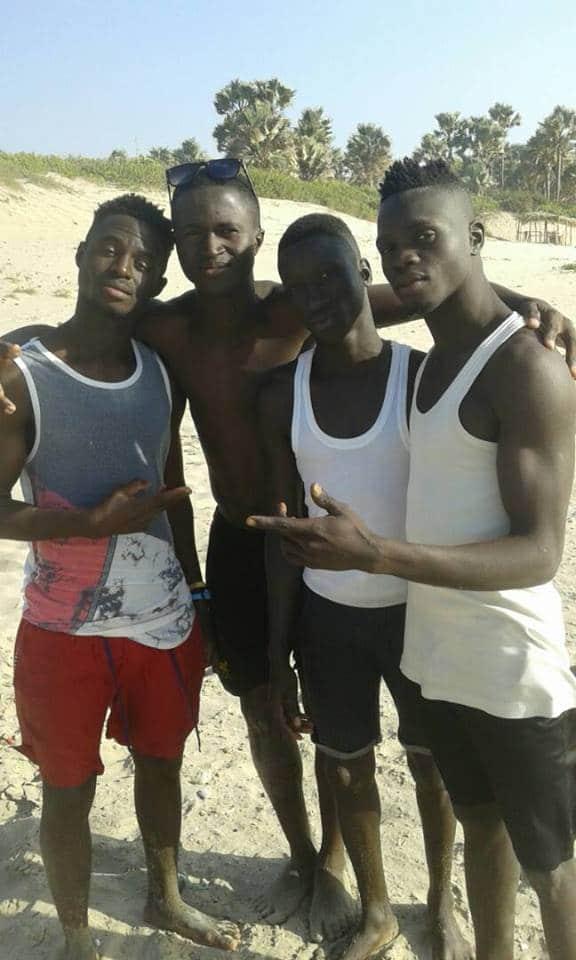Vier jongens